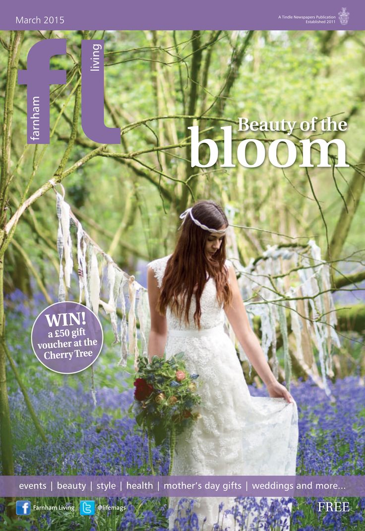 ~ Beauty of the bloom ~ Farnham Living March (Photo by Jessica Jill Photography) Image features @hberryflowers and @bridalb #locallife #Farnham #Surrey #spring #weddings #boho #bridal #bluebells