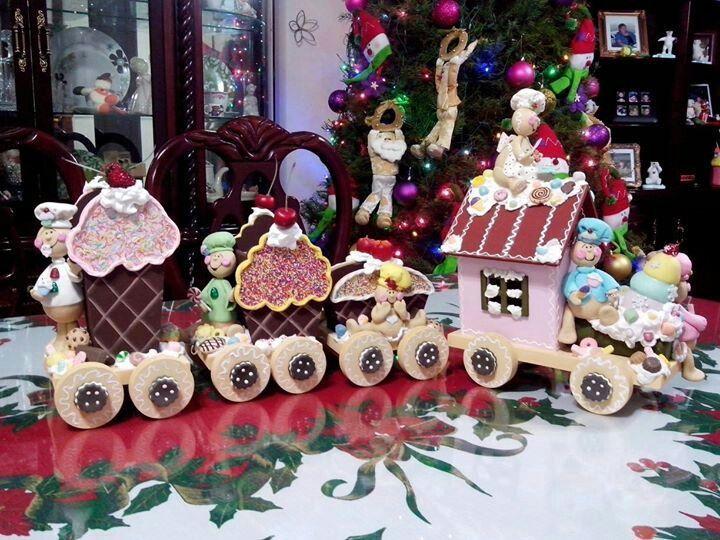 tren navideño en paño lency - Buscar con Google