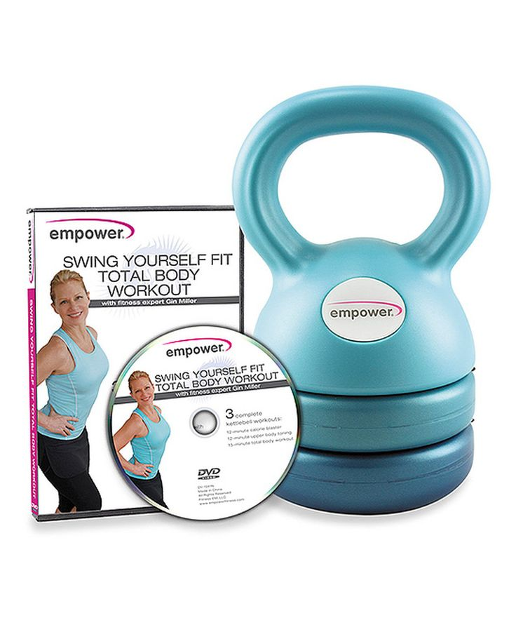 Look at this #zulilyfind! 3-in-1 Kettlebell & DVD Set by Empower #zulilyfinds