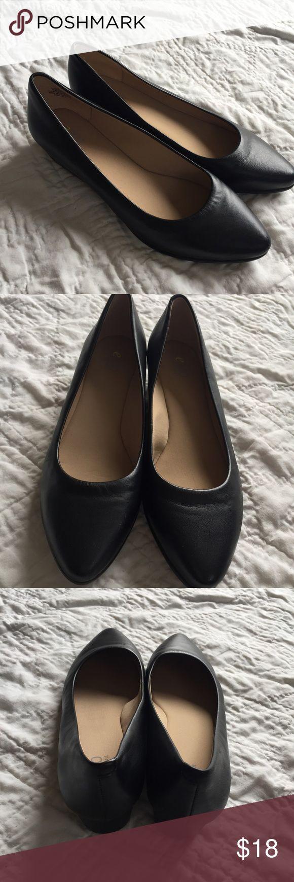 Easy Spirit e360 Avery Women US 8.5 Black Low heel Easy Spirit e360 Avery Women US 8.5 Black Low Wedge Heel Slip-on Comfort Shoe Easy Spirit Shoes Flats & Loafers