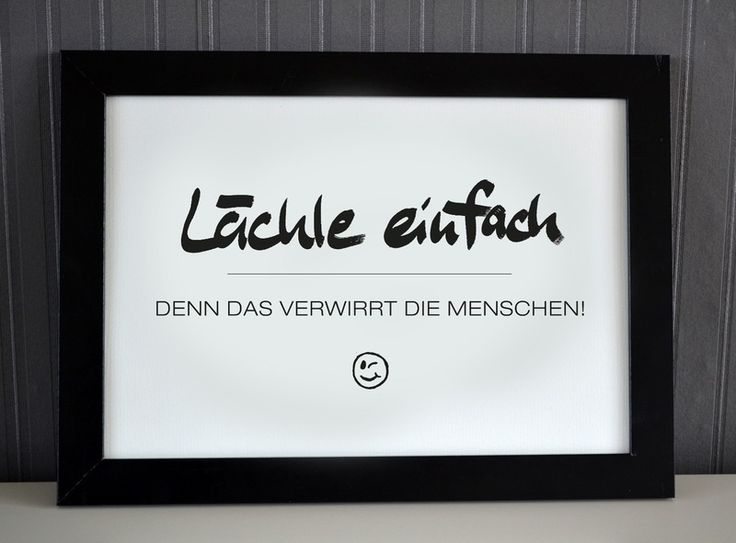 Originaldruck - Lächle einfach - Druck von Formart - ein Designerstück von Formart-Zeit-fuer-schoenes bei DaWanda