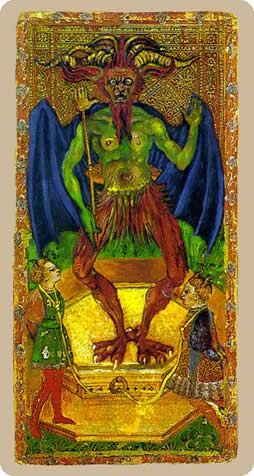 Cary-Yale Visconti Tarot - The Devil