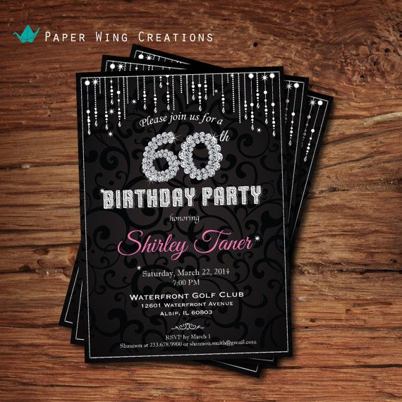49 best Birthday Party Invitations for Women images on Pinterest