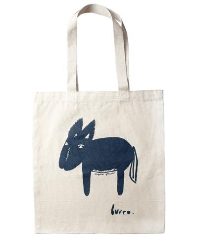 Virginia Johnson canvas book bag, burro
