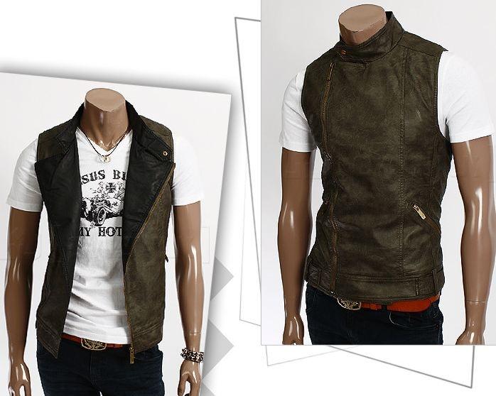 Skinnvest Herre (Khaki) - Rockdenim - $599nok