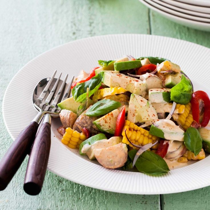 A healthy fresh twist on the classic potato salad - this is a great dish to bring to a BBQ and is a filling main for vegetarians