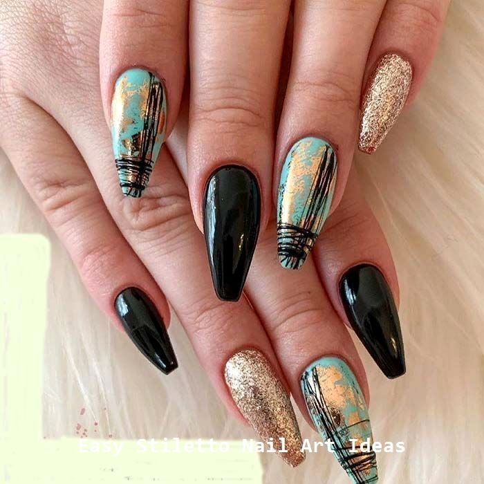 30 Ideen für großartige Stiletto-Nageldesigns #naildesigns #stilettonails – Stiletto Nail art