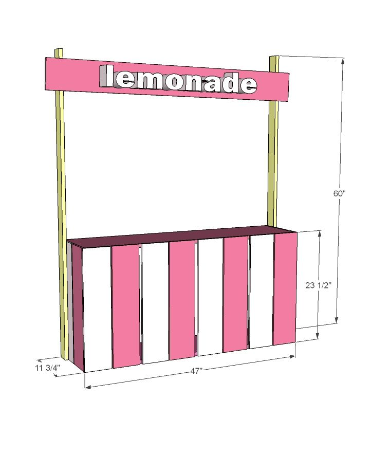 Ana white build a fence picket lemonade stand free and for Pallet lemonade stand plans