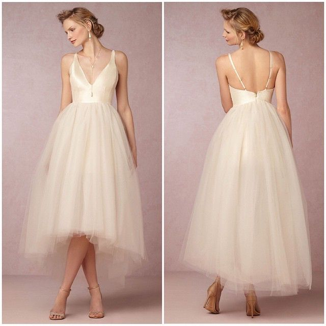 Channel your inner ballerina with the Gillian Tulle Dress' slim silk bodice and hi-low | BHLDN