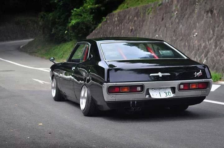 Nissan Laurel -I always loved the chrome/black with red interior