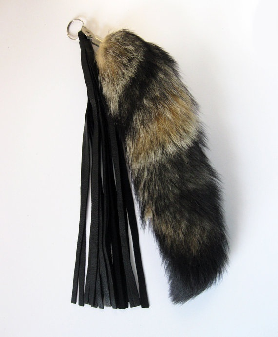 Fox Tail Keychain With Tassels by PlushFurs on Etsy, $30.00