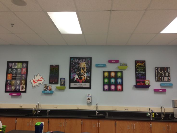 Classroom Design For Grade 8 ~ My new einstein wall in th grade physical science