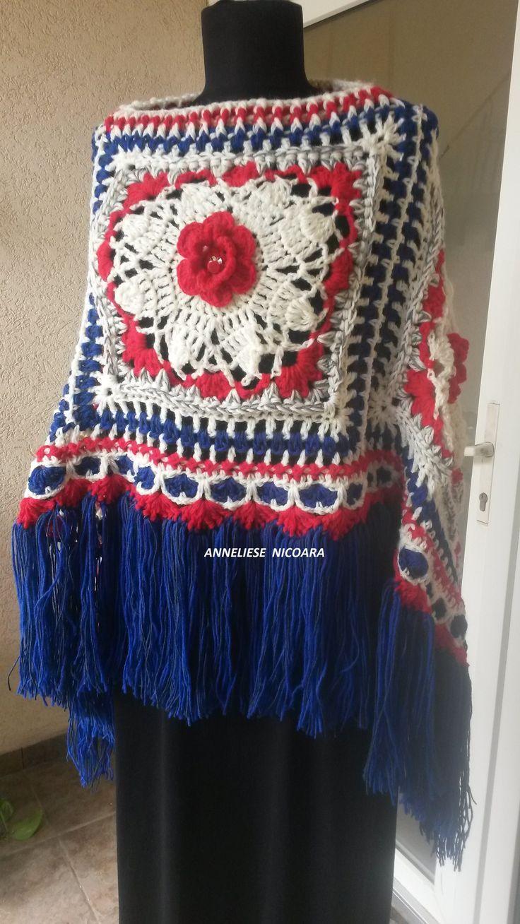 Bohemian ,boho chic  poncho ,2ways wearable