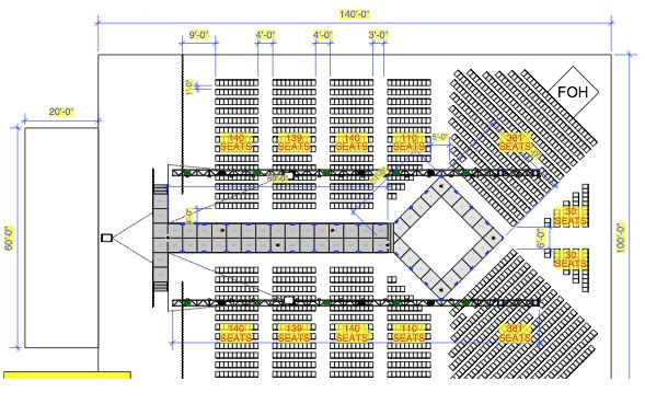How to plan a fashion show event planning architecture - Fashion show stage design architecture plans ...