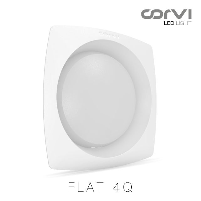 Corvi LED Flat 4Q: 900 Lumens/ 6 #Watts #CorviLEDLight #Becauselightisforeveryone