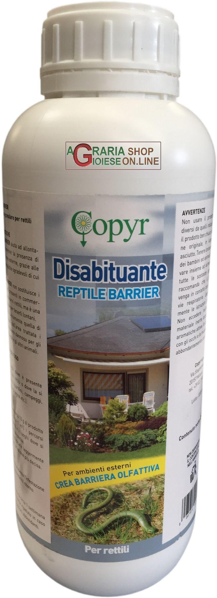 REPELLENTE DISABITUANTE PER RETTILI LT.1 https://www.chiaradecaria.it/it/insetticidi-uso-civile/15349-repellente-disabituante-per-rettili-lt1.html