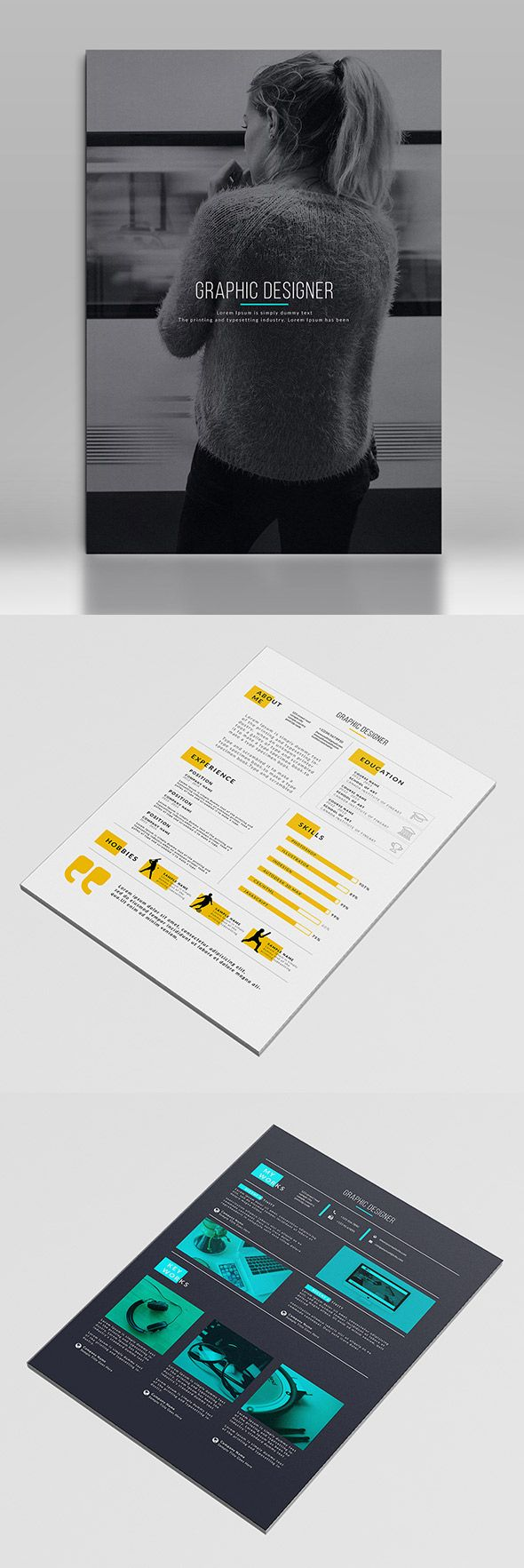 Graphic Designer Resume Template 317 best Designeru0027s