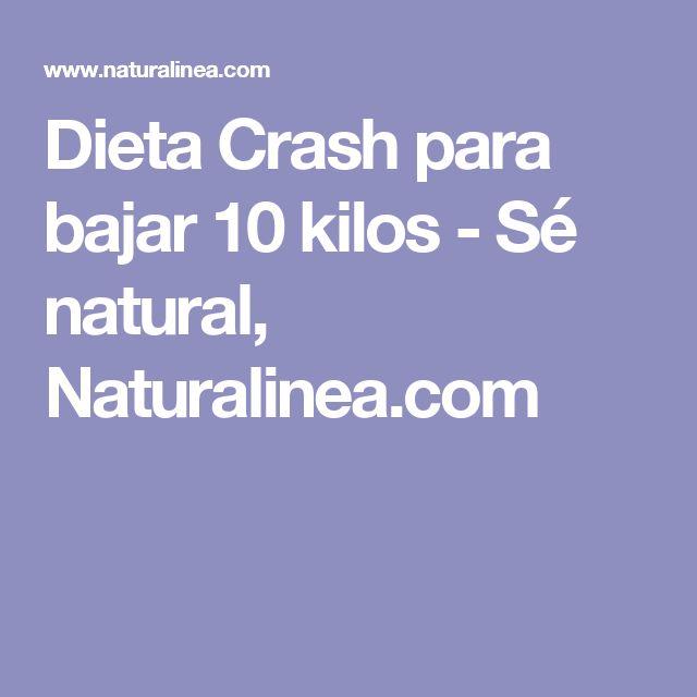 Dieta Crash para bajar 10 kilos - Sé natural, Naturalinea.com