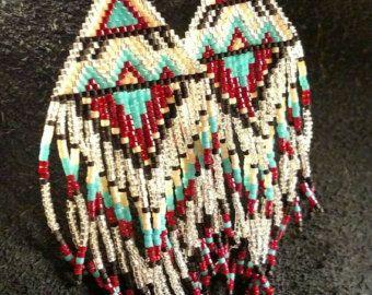 inspired seed bead earrings