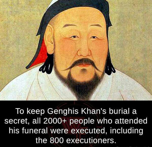 How they kept Genghis Khan's burial place a secret.