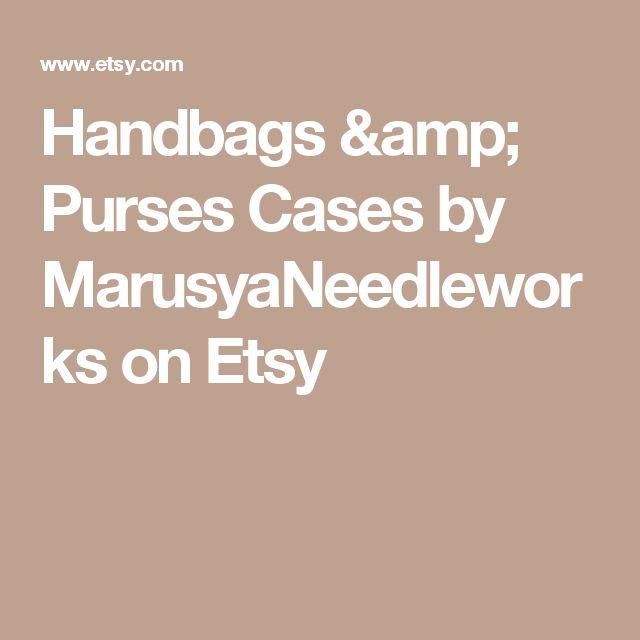 Handbags & Purses Cases by MarusyaNeedleworks on Etsy