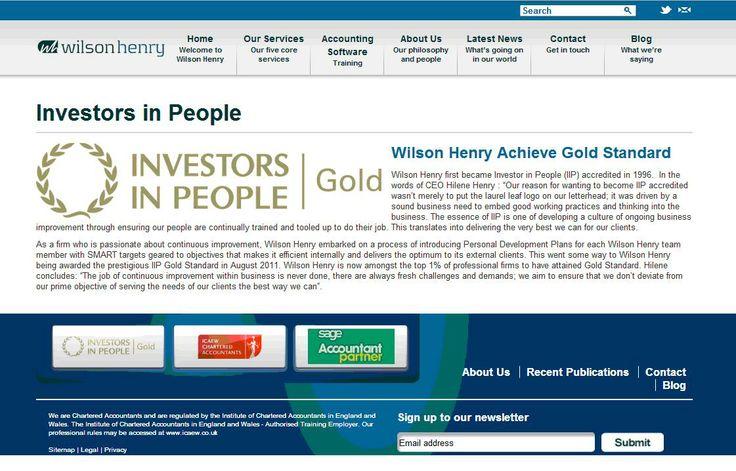 Wilson Henry achieve Gold Standard