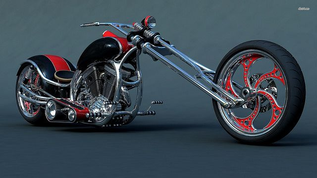 Sweet Harley Davidson Custom Chopper