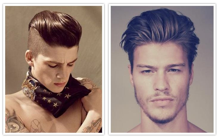 Photo of men with undercut hairstyle