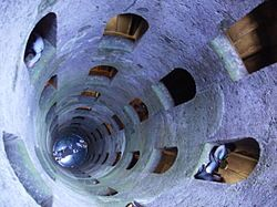Pozzo di San Patrizio. A well in Orvieto, Umbria, central Italy. Built by Antonio da Sangallo the Younger of Florence, between 1527 and 1537.