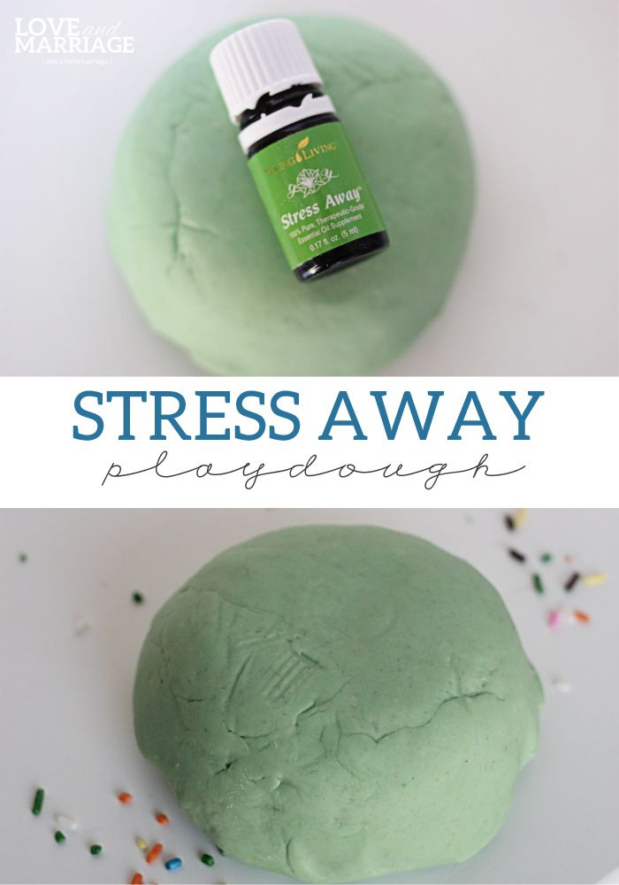 How to make Stress Away playdough with essential oils. The perfect evening activity for busy hands.