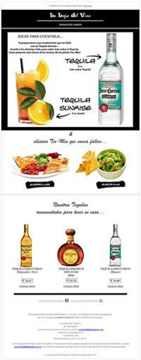 Tequila Sunrise + Quesadillas + Guacamole. Para acceder a su versión online:  http://lalogiadelvino.es/momentos-foodie-la-logia-04.html