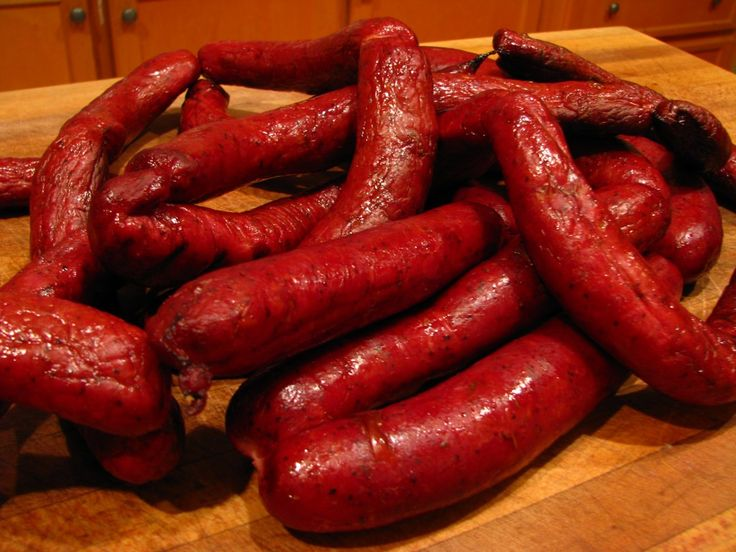 Smoked venison andouille sausage, how to make deer sausage. #sausage #delicious #yummy