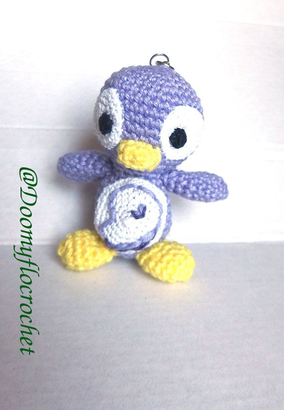 Porte-clés pingouin manchot logo Gentoo Linux par Doomyflocrochet