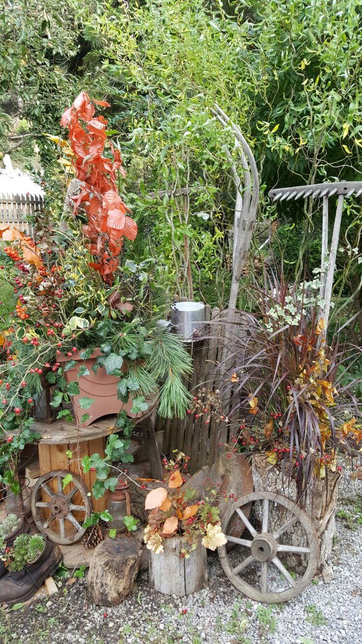 Herbstdeko mit alten allerlei mitte oktober 2016 for Herbstdeko 2016 draussen