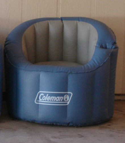 Coleman inflatable camping outdoor chair with cup drink Camping blow up sofa