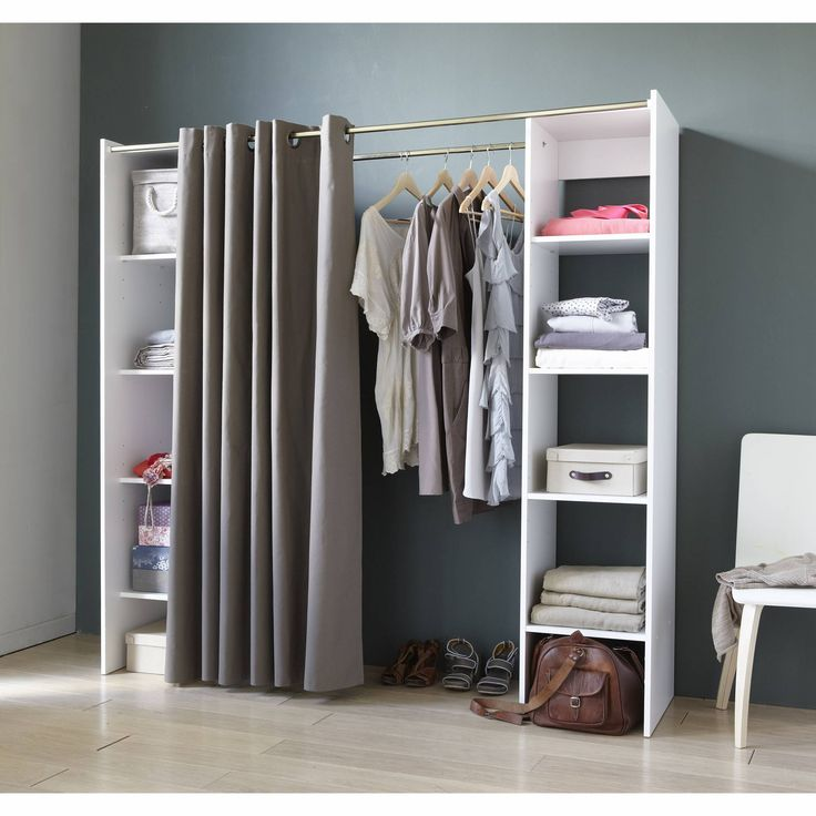 12 best images about ideas for open wardrobe in the - Room with no closet ...