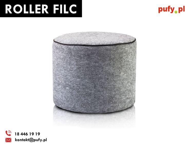 Roller filc to świetne uzupełnienie kostki folk oraz rollera folk. Idealny do nowoczesnych wnętrz.   #rollerfilc #roller #filc #stylskandynawski #aranżacjawnętrz #podnóżek #pufka #wystrójwnętrz #pufypl #furini #ecopuf #stylludowy