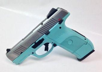 Ruger (Sturm, Ruger and Company) : For Sale: Tiffany Blue Ruger SR9C SS 9mm Handgun