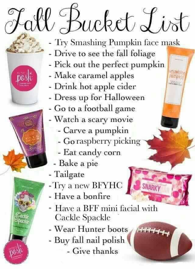 Perfectly posh fall bucket list!! Https://michelleauvil.po.sh