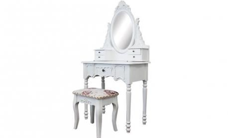 Dressing Table 5 Drawers with Mirrors & Stool 03 by Living Good - bedroom furniture sets online Australia