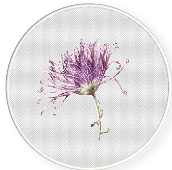 MORE for FREE  Purple Flower  Counted Cross stitch pattern