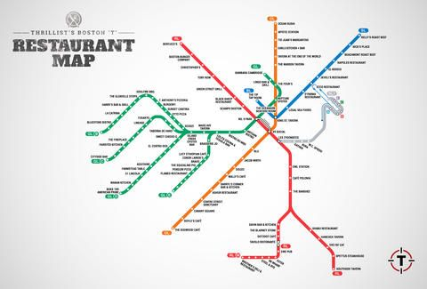 Map of Restaurants Near Boston T Stops - MBTA restaurant guide - Thrillist