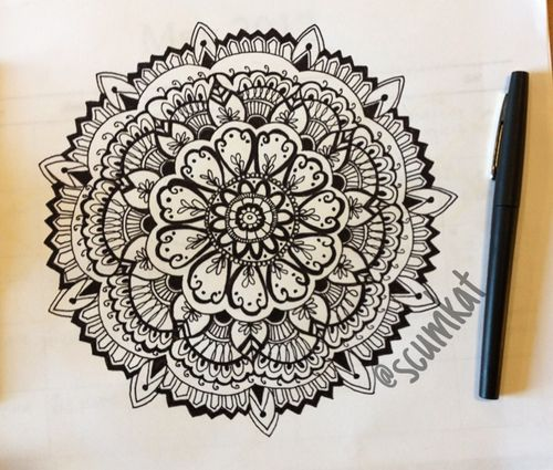 Mandala Designs, d3sir3mari3: another doodle by me. IG: @Katie Hrubec Nicole...