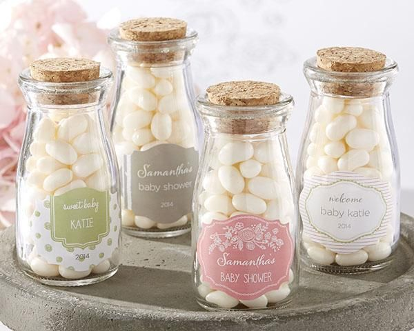 Personalized Milk Jar - Kate's Rustic Baby Shower Collection (Set of 12)