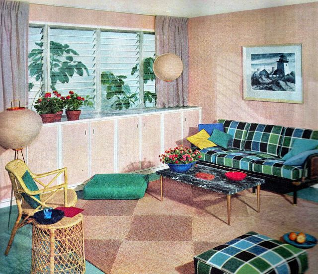 60 best images about mid century basements on pinterest for Retro basement ideas
