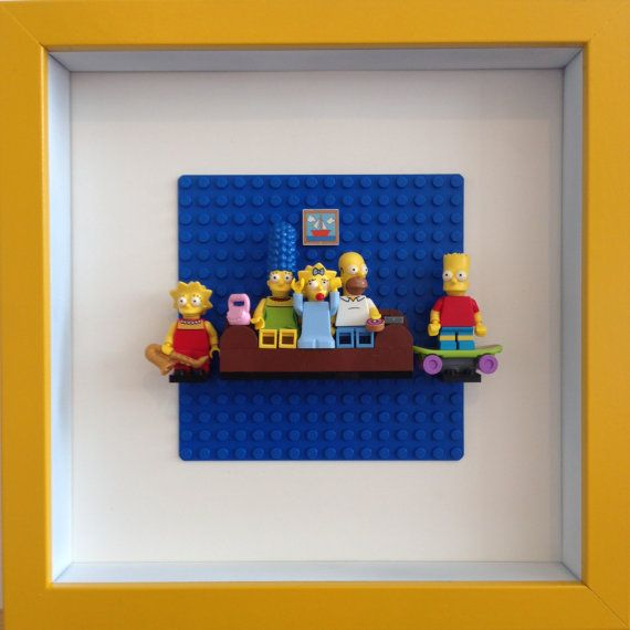 Lego Simpsons Framed Wall Art Minifigures by Brickzilla on Etsy
