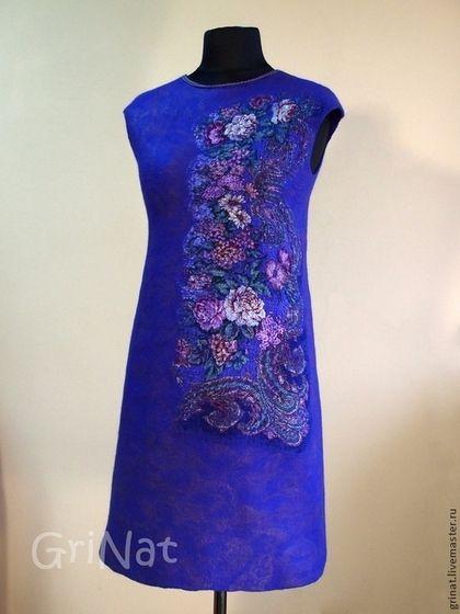 """Платья ручной работы. Ярмарка Мастеров - ручная работа. Купить Валяное платье """"Притяжение роз"""". Handmade. Цветочный, платье из шерсти"""