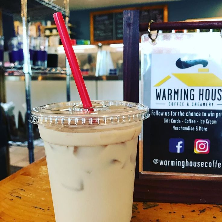 @warminghousecoffee iced vanilla latte. There are some super fresh looking sandwiches and devilled eggs and Wisconsin's own Cedar Crest ice cream #minnesotasummer #weeklydish #roadtrip