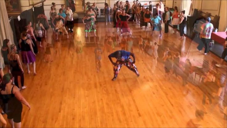 Dance Class with Youssouf Koumbassa in Portland, ME 6-20-14