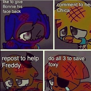 Save Bonnie Chica Freddy and Foxy By Doing These Things and Follow Me @Korey Rodriguez!